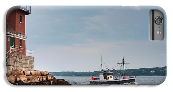 Boats iPhone 7 Plus Case - Rockland Breakwater Lighthouse Guards by Allan Wood Photography