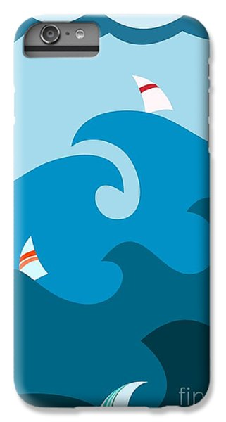 Sailboat iPhone 7 Plus Case - Sailboat On Stormy Seas by Martin Nezval