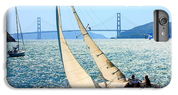 Sailboat iPhone 7 Plus Case - Sailboats In The San Francisco Bay by Kevin Bermingham