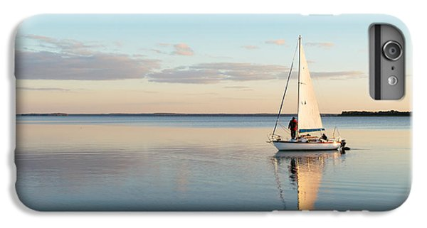 Sailboat iPhone 7 Plus Case - Sailing Boat On A Calm Lake With by Wstockstudio