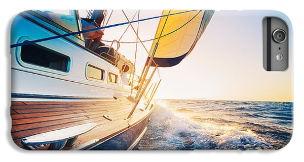 Sailboat iPhone 7 Plus Case - Sailing Into The Sunset by Epicstockmedia