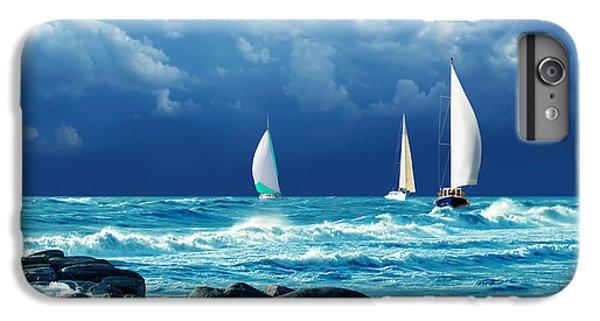 Sailboat iPhone 7 Plus Case - Sailing Regatta by Presniakov Oleksandr