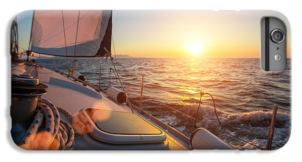 Sailboat iPhone 7 Plus Case - Sailing Ship Luxury Yacht Boat In The by De Visu