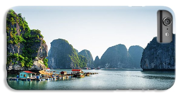 Ship iPhone 7 Plus Case - Scenic View Of Floating Fishing Village by Efired