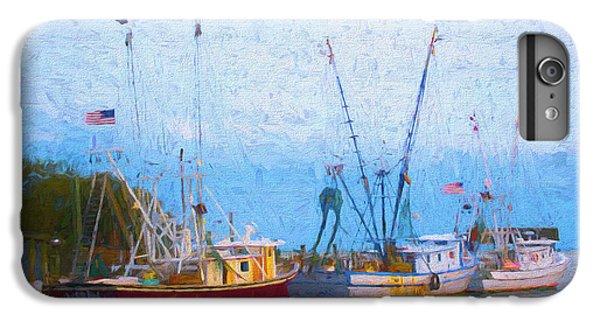 Shrimp Boats iPhone 7 Plus Case - Shem Creek Boats V by Jon Glaser