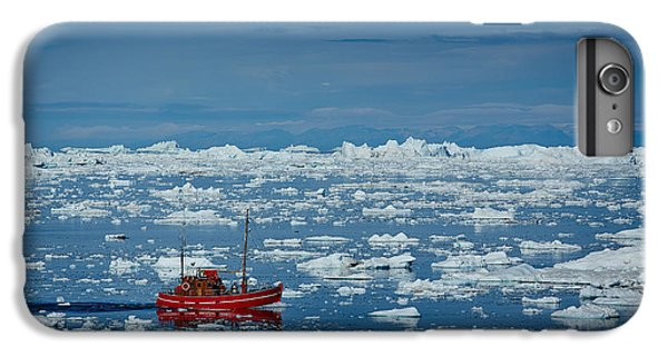 Ship iPhone 7 Plus Case - Ship In Ilulissat Icefjord, Unesco by Romantravel