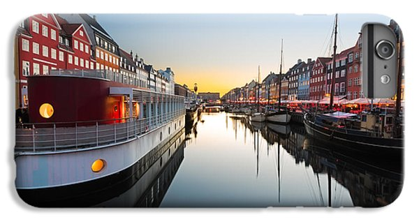 Sailboat iPhone 7 Plus Case - Ships In Nyhavn At Sunset, Copenhagen by Frank Fischbach