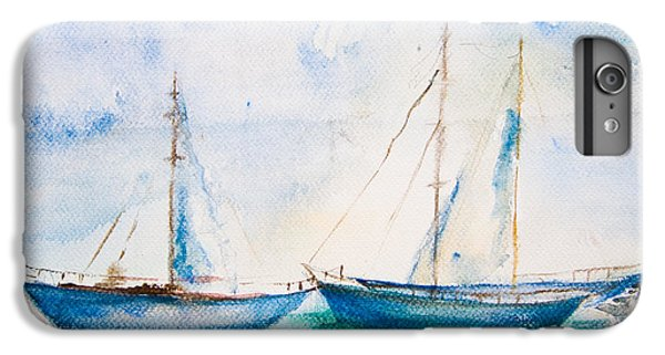 Craft iPhone 7 Plus Case - Ships In The Sea, Watercolor Painting by Regina Jershova