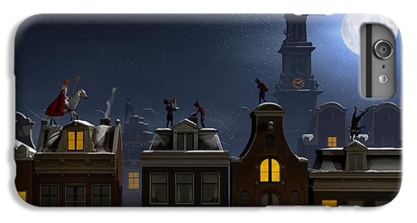 The Moon iPhone 7 Plus Case - Sinterklaas And The Pieten On The by Sara Winter