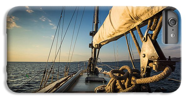 Sailboat iPhone 7 Plus Case - Sunset At Sea On Aboard The Yacht by Zhukov Oleg