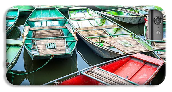 Ship iPhone 7 Plus Case - Vietnamese Boats On The River Early In by Perfect Lazybones