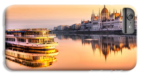 England iPhone 7 Plus Case - View Of Budapest Parliament At Sunrise by Luciano Mortula - Lgm