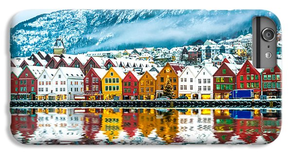 Ship iPhone 7 Plus Case - View On Bruges. Bergen Norway by Tatyana Vyc