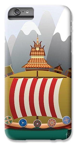 Sailboat iPhone 7 Plus Case - Viking Ship by Nikola Knezevic