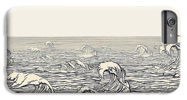 Marine iPhone 7 Plus Case - Waves by Ryger