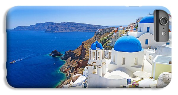 Ship iPhone 7 Plus Case - White Architecture Of Oia Village On by Patryk Kosmider