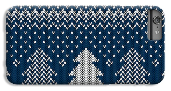 Craft iPhone 7 Plus Case - Winter Holiday Seamless Knitted Pattern by Atelier agonda