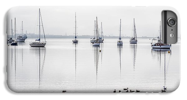 Boats iPhone 7 Plus Case - Yachts, And Early Morning Reflection On by Ketut Suwitra