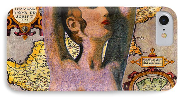 Aphrodite And Ancient Cyprus Map IPhone Case