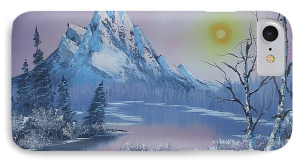 Blue Winter's Sunglow  IPhone Case