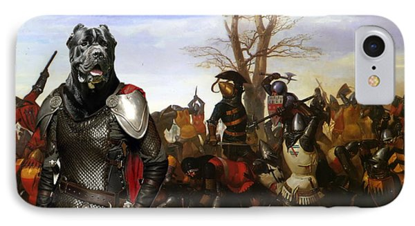 Cane Corso Art Canvas Print - Swords And Bravery IPhone Case