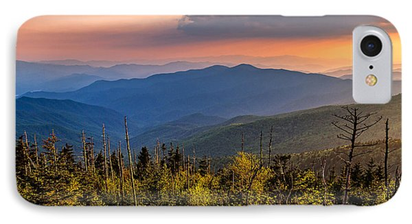 Clingmans Dome Sunset IPhone Case