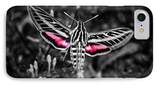 Hummingbird Moth Bw Print IPhone Case