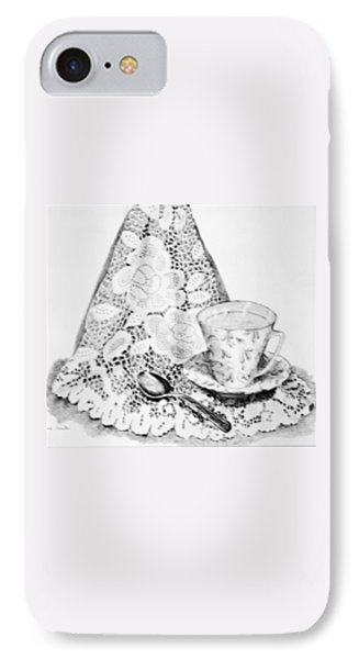 Lace With Cup IPhone Case