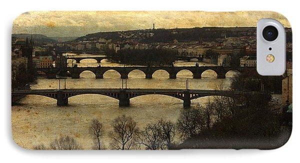 Vintage Prague Vltava River IPhone Case