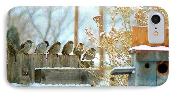 7 Winter Sparrows IPhone Case