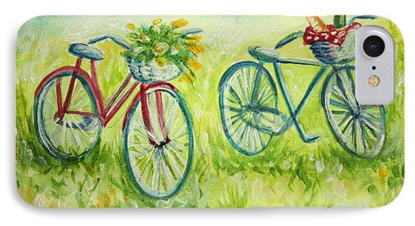 Sweet Bike Ride Picnic IPhone Case