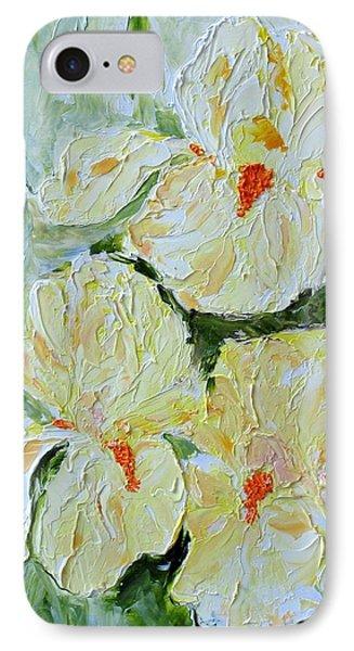 Three Yellow Irises IPhone Case