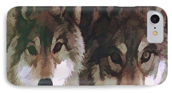 Together Forever Wolves IPhone Case