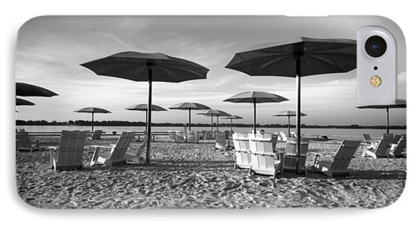 Umbrellas On The Beach IPhone Case