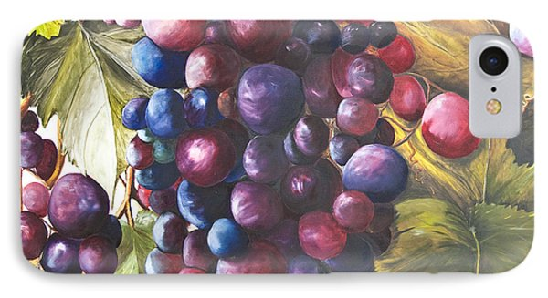Wine Grapes On A Vine IPhone Case