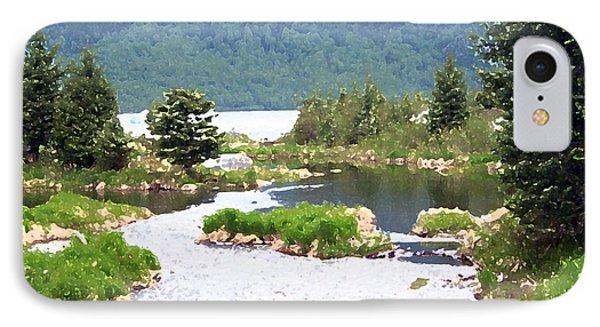 092014 Water Color Alaskan Wilderness IPhone Case
