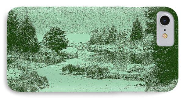 092214 Digital Pen Drawing Alaska IPhone Case