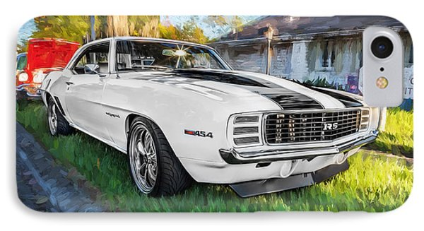 1969 Chevy Camaro Rs Painted  IPhone Case