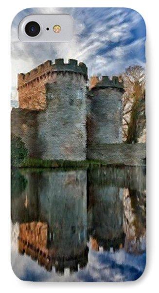 Ancient Whittington Castle In Shropshire England IPhone Case