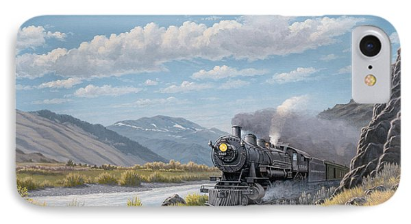 Train iPhone 8 Case - At Point Of Rocks-bound For Livingston by Paul Krapf