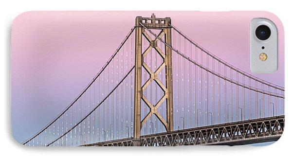 Bay Bridge Lights At Sunset IPhone Case