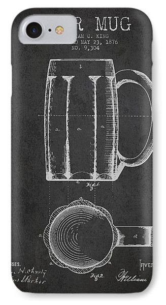 Beer Mug Patent From 1876 - Dark IPhone Case