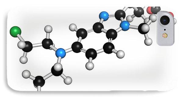 Mustard iPhone 8 Case - Bendamustine Chemotherapy Drug Molecule by Molekuul