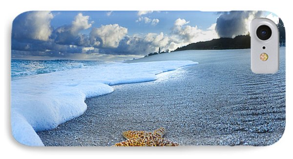 Sea iPhone 8 Case - Blue Foam Starfish by Sean Davey