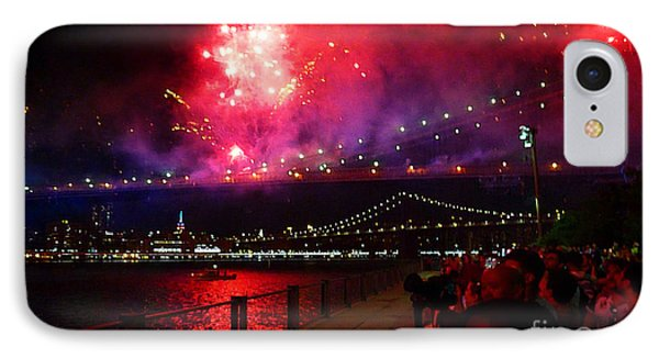 Brooklyn Bridge Fireworks IPhone Case
