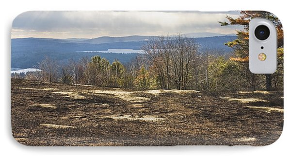 Burnt Blueberry Field In Maine IPhone Case