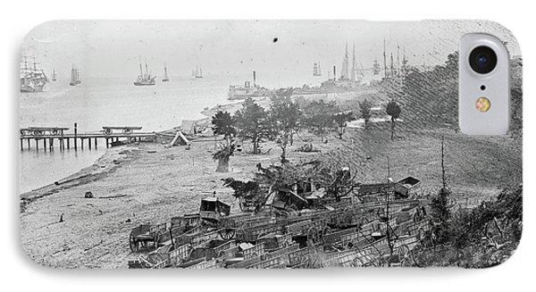 Civil War Wagon Park IPhone Case