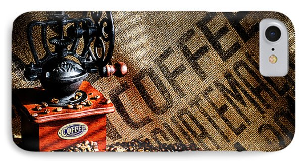 Coffee Beans And Grinder IPhone Case