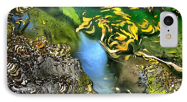 Colorful Leafs In Water IPhone Case
