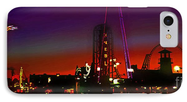Coney Island Amusement Park And Parachute Jump IPhone Case